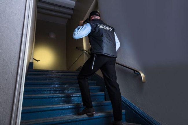 Sicherheitsdienst im Einsatz